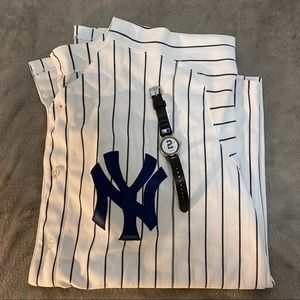 Authentic Derek Jeter Jersey, 52 & signed watch